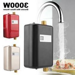 110V 3000W Mini Tankless Instant Electric Hot Water Heater H