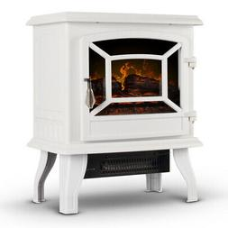 17-Inch Electric Infrared Fireplace Stove Heater with 3D Fla