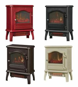 "23"" Electric Fireplace Stove Heater Free Standing Compact In"