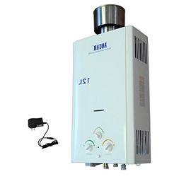 AQUAH 12L / 3.2 GPM OUTDOOR NATURAL GAS NG TANKLESS WATER HE