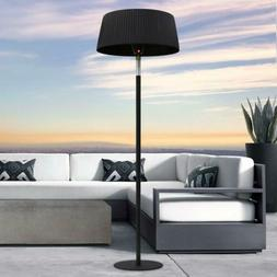 7 Foot Electric Heater Lamp With Remote, Black, Electric 110