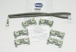 Dryer Heater Element Coils WITH Ceramics WE11X10007 for GE W