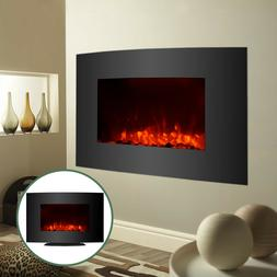 Large 1500W Electric Fireplace Wall Mount & Standing w/ Remo