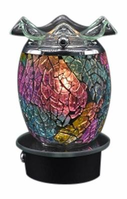 Electric Plug in Oil Warmer Multi Color Mosaic Design Wax Me