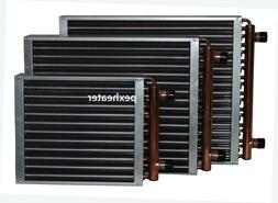 """Finned Coil Water to Air Heat Exchanger, 1"""" sweat connection"""