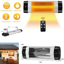 Infrared Patio Heater Electric Outdoor Heating Wall Mount Re
