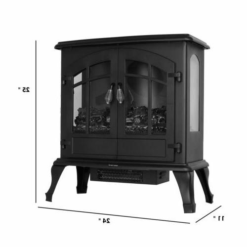 1500W Fireplace Freestanding with Burning