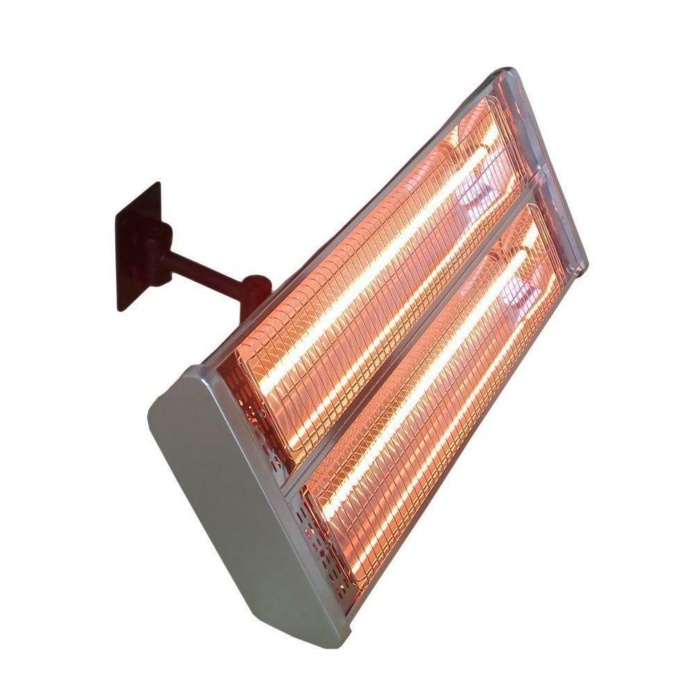 1500W Infrared Double Electric Patio Heater Wall Mount Remot