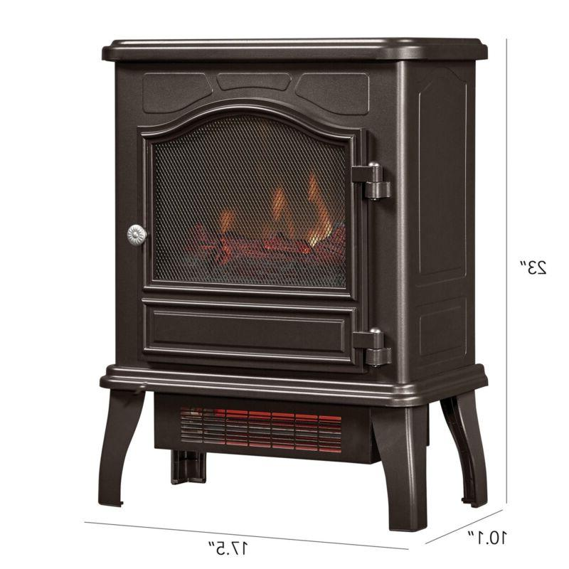 """23"""" Electric Stove Heater Free Standing Compact Infrared"""
