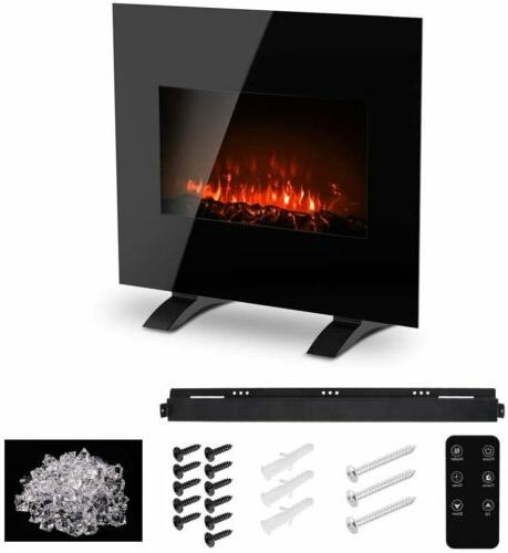 """26""""Electric Fireplace Mounted Heater Flame Free-stand"""