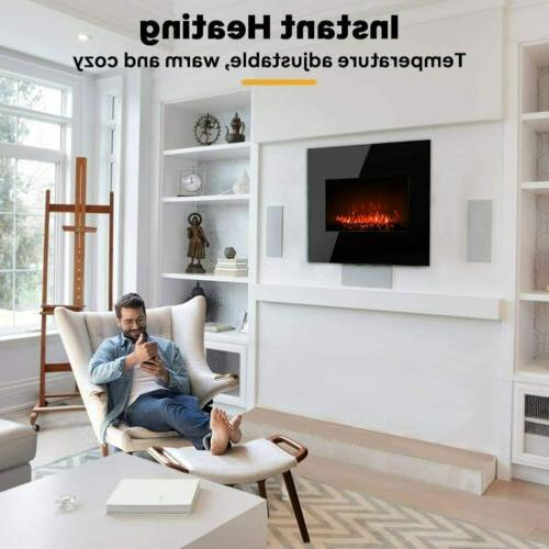 """26""""Electric Fireplace Mounted Heater Flame"""
