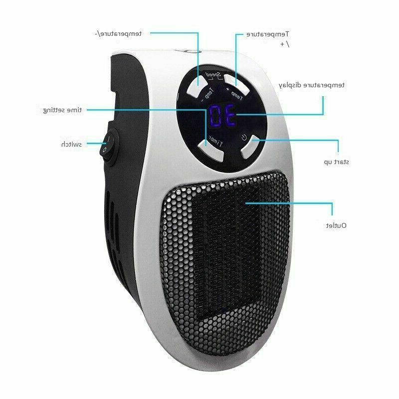 350W Portable Heater-Wall-outlet Adjustable