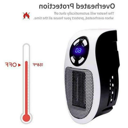 350W Portable Space Heater-Wall-outlet Thermostat