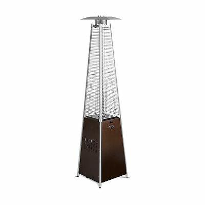 AZ Patio Heaters Patio Heater, Quartz Glass Tube in Hammered