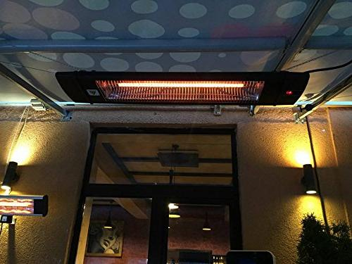 Dr. Infrared 1500W carbon infrared indoor outdoor garage or ceiling with remote,