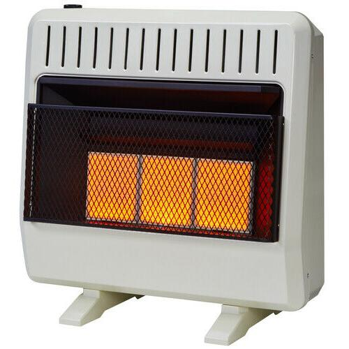 dual fuel ventless infrared heater 30 000