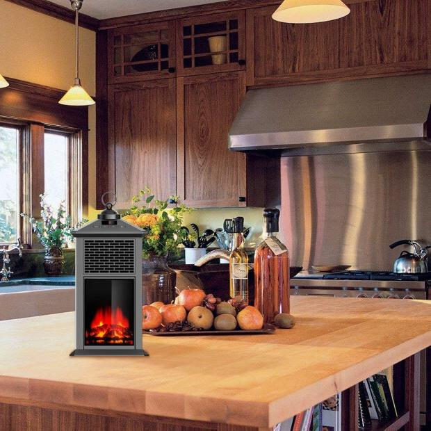 DUOLANG <font><b>Electric</b></font> Space <font><b>Heater</b></font> <font><b>Fireplace</b></font> <font><b>Stove</b></font> Portable for 3D Flame