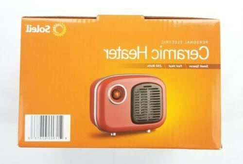 Soleil Heater Retro Style 250W Red Cool Touch