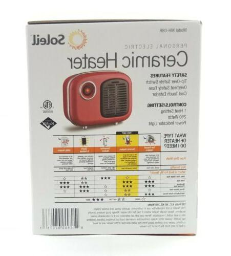 Soleil Personal Retro 250W Red Cool