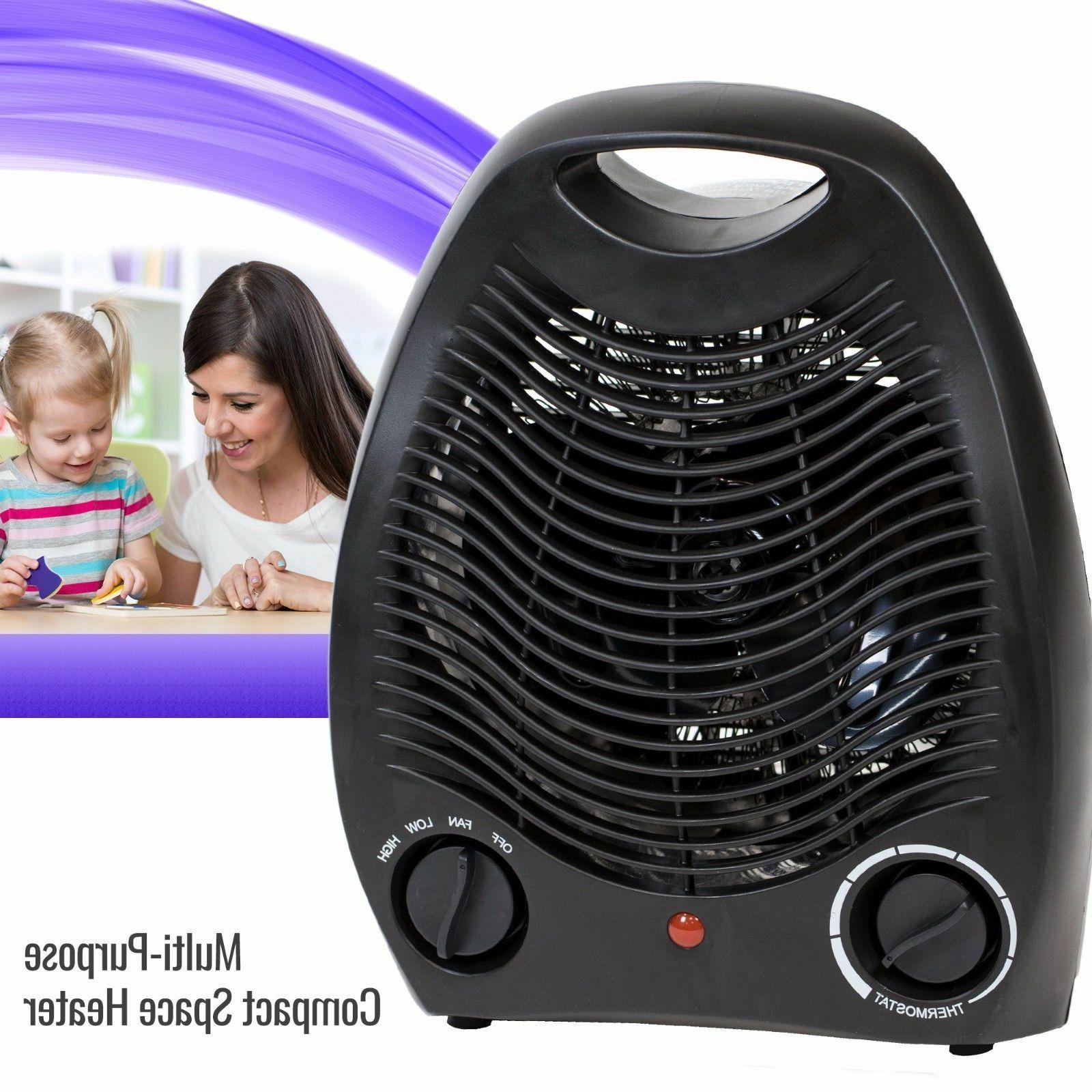 Portable Space Heater Home Fan Adjustable Thermostat