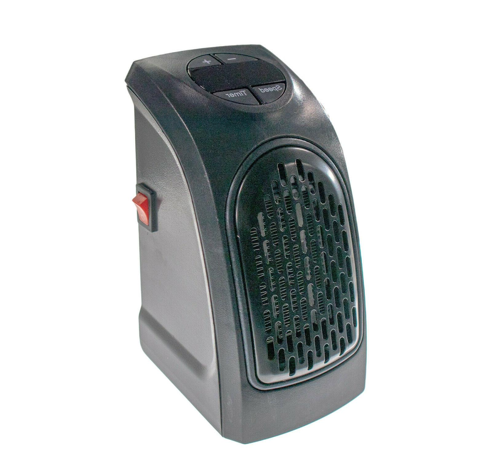 Wall Outlet Plug Ceramic Handy Space Heater 400w Timer