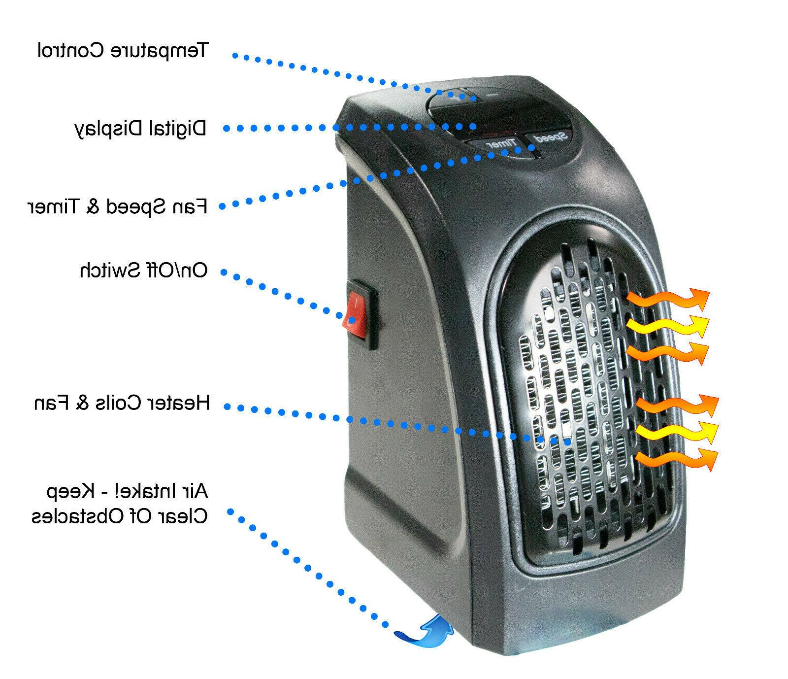 Wall Ceramic Space Heater 400w Timer