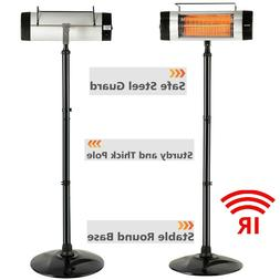 Patio Heater Electric Infrared Heating Outdoor Standing Floo