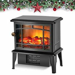 Air Choice Portable Electric Fireplace Stove Space Heater, A