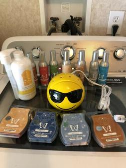 Scentsy Products Smiley Warmer 4 Bars And 7 Room Sprays