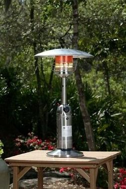 Fire Sense Propane Table Top Patio Heater, Stainless Steel
